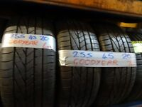 matching set 255 45 20 GOODYEARS 6mm TREAD £100 PAIR SUP & FITD £180 SET OF 4(LOADS MORE AV 7-DAYS)