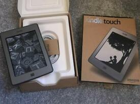 Kindle Touch e-book reader