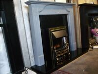 Electric Fire Suite, Fire Surround, Black Slate Set & Electric Fire.