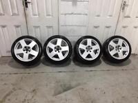 "5x100 Audi TT speedline alloy wheels +tyres 16"" vw golf mk3 gti vr6 corrado"