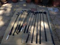 A selection of golf clubs