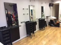 3 barber shop mirrors, trolleys and a back wash unit in excellent conditions are available for sale