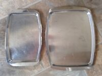 Wanted stainless steel baking trays and other items milk jugs one mug kettles bowls etc