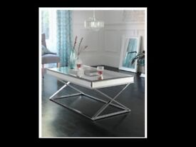 Brand New Mirrored Coffee Table