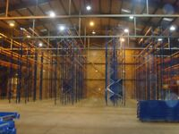 PALLET RACKING CHEAPEST IN ENGLAND 16 BAYS 5m,6m OR 7m HIGH 17 FRAMES 96 BEAMS £1200 CHEAP STORAGE