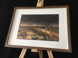Holywood Pier, County Down - Framed Print (print size A4)