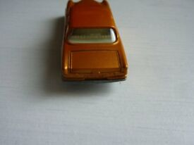 Very Rare pre production Matchbox Number 46 Mercedes Benz in gold with Black Plastic Wheels