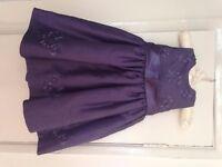 Next purple dress age 9-12 months.