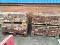 Reclaimed bricks (various colours and sizes)