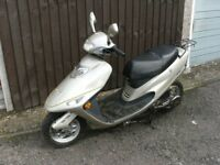 scooter moped, 17 plate brand new, just needs to be registered , only covered 52 miles !! BARGAIN !!