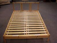 IKEA FJELLSE double bed . Could be taken apart . Size : H=30cm , W=207cm , D=148cm