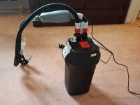Fluval 206 canister external filter and inline external 150w heater