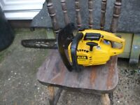 petrol chainsaw 16 inch ALKO its good for a loping saw as well