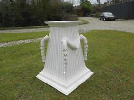 Beautiful Carved White Pedestal Stand