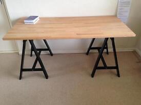Large beech wood desk