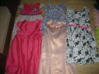 Lovely bundle of girl dress x5 age 8-9 year old (inc Mother Care, Next, M&S and Emma Button.