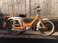 Honda PC50 1975 vintage moped with v5 and running barn find look!!! PC 50