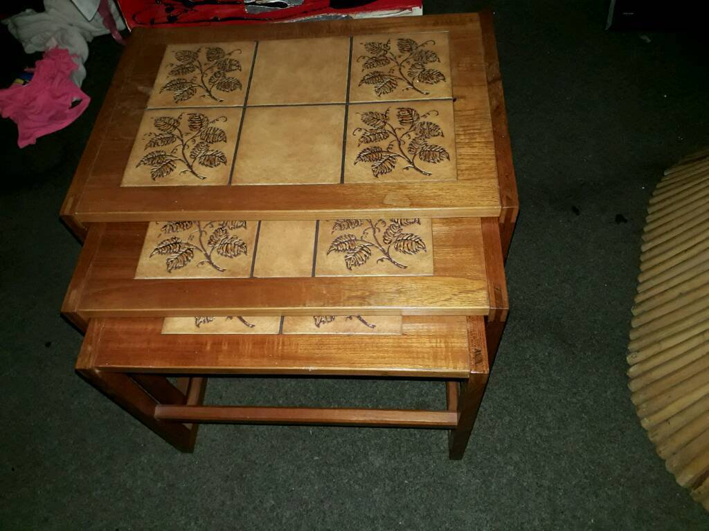 Set of 3 matching retro tables