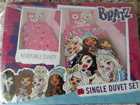 BRAND NEW in Pack - BRATZ GIRLS PINK SINGLE REVERSIBLE QUILT DUVET COVER WITH PILLOW CASE SET