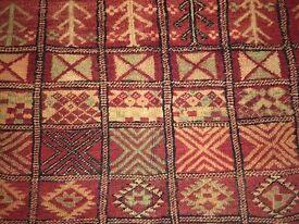 Ancient Handmade Moroccan Rug