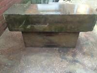 Very old York stone bench