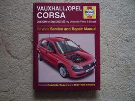Vauxhall Corsa Haynes Manual