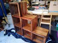 Solid Wood side board square unit similar to ikea squares