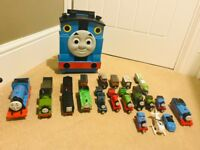 Thomas and Friends trains and case
