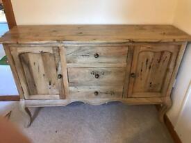 Antique look solid wood sideboard