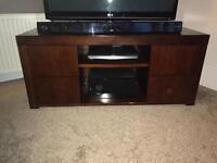 Mahogany coloured tv media unit