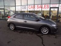2012 62 HONDA CIVIC 1.8 I-VTEC ES 5D 140 BHP **** GUARANTEED FINANCE **** PART EX WELCOME