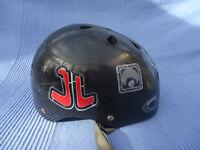Black Skateboard Helmet (used) for decoration only.