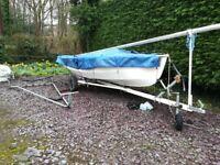 Wayfarer sailing Dinghy MkII with combi trailer