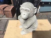 Concrete garden chimpanzee ornament
