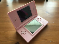 Pink Nintendo DS Lite with Accessories and Brain Game