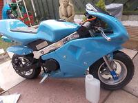 mini moto Rizla replica 50cc kids bike used once read listing