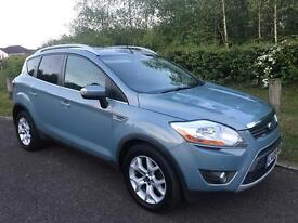 08 FORD KUGA 2.0 TDCI, FSH, SAT NAV, HALF LEATHER, PARKING SENSORS, PRIVACY GLASS