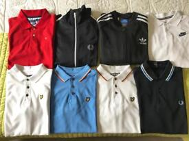 Boys polo shirts and tracksuit tops.