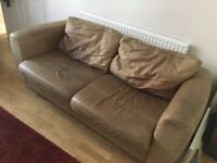 Free leather sofa and armchairs
