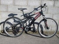 mens black bike 26'' trax
