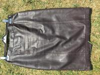 NEXT faux leather skirt brown size 10