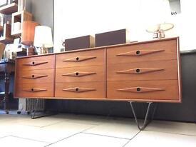 Mid Century sideboard credenza vintage retro drawers