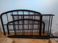 Solid metal double bed frame