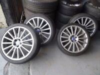 "GENUINE VW GOLF MK5 R32 18"" ALLOYS & TYRES JUST BEEN REFURBD (not copys) loads more vw/audi alloys"