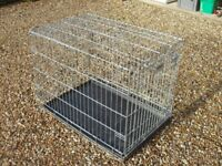 Large Savic Dog Crate (Steel 'Fold-Down' Cage)