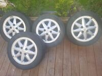 "4x 14"" Renault Clio Alloy Wheels and Tyres"