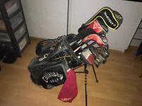 Golf Clubs: Callaway Big Bertha Diablo irons/woods, plus Nike SQ2Driver