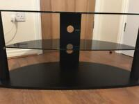 Tv LCD PLASMA LED TV STAND 3 tiers in black glass and wood