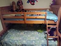 Triple bunk detachable