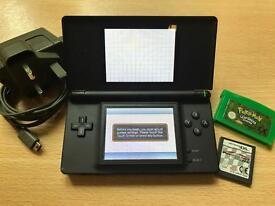 Nintendo DS Lite Black + FREE Mario Cart and Pokemon Leaf Green